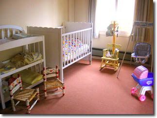 Photo of infant area of child care room.